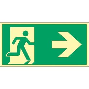 Fluchtwegschild Pfeil nach rechts