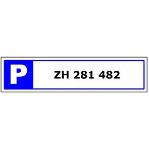 Parkplatzschild Individieller Text 1