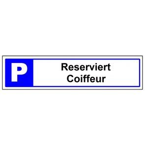 Parkplatzschild Individieller Text 2