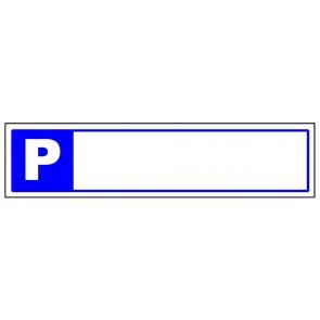 Parkplatzschild leer