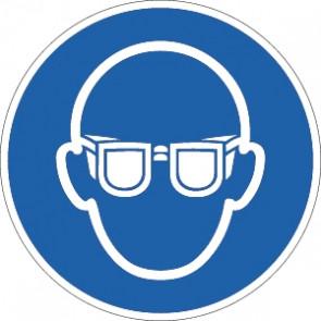 Schutzbrille tragen
