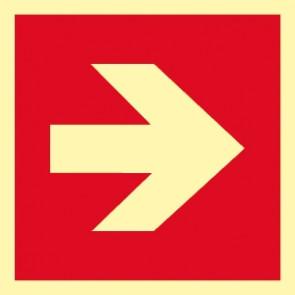 Brandschutzzeichen Pfeil rechts/links