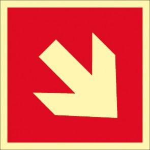 Brandschutzzeichen Pfeil unten/oben