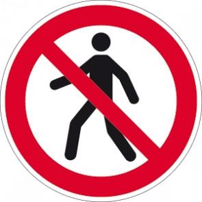 Verbotsschild Fussgänger verboten