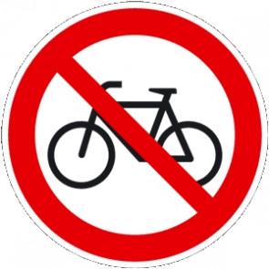 Verbotsschild Fahrrad verboten