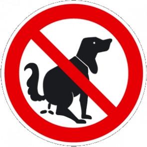Verbotsschild kein Hunde WC