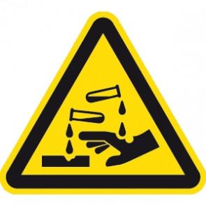 Warnung ätzende Stoffe