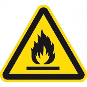 Warnung feuergefährliche Stoffe