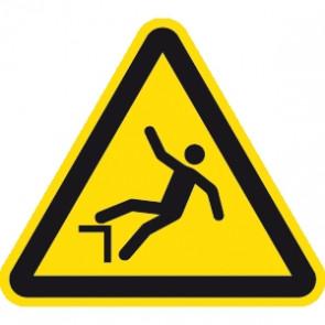 Warnung Absturzgefahr