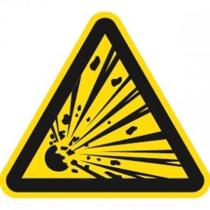 Warnung explosionsgefährliche Stoffe