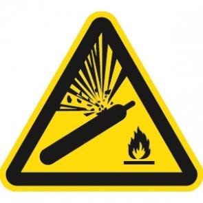 Warnung Gasflaschen