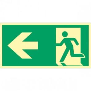 Fluchtwegschild Pfeil nach links