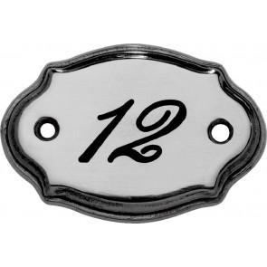 Messingschild Nr. 66740, 71x50 mm