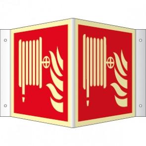Brandschutzzeichen Winkel Löschschlauch