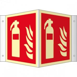 Brandschutzzeichen Winkel Feuerlöscher