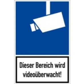 Videoüberwacht mit Text