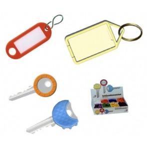 Schlüsseletiketten, Schlüsselkappen